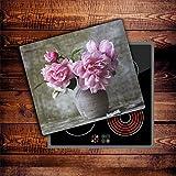 CTC-Trade | Herdabdeckplatten 60x52 cm Ceranfeld Abdeckung Glas Spritzschutz Abdeckplatte Glasplatte Herd Ceranfeldabdeckung Küche Pink Natur