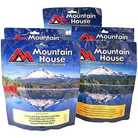 Decade (240hr) emergenza alimentare–5confezioni Big Mountain House Liofilizzati Food pasti. Vedere Sapori