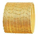 Touchstone Collezione di braccialetti esclusivi gioielli designer di smalti speciali bracciali bangle per donna 2.75 Set di 2 Oro