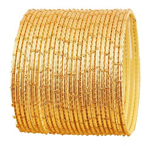 Touchstone Bangle Collection exklusive Glasur Designer Schmuck spezielle Armreifen Armbänder für Damen 2.75 Set 2 Gold