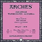 Arches 20 x 20 cm 300 gsm Hot pressed Watercolour Block