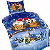 Leonado Vicenti 4 teilig Winter Bettwäsche Thermofleece 135x200 weich , Maße:135 cm x 200 cm, Fleece Bettwäsche:Edeltraud