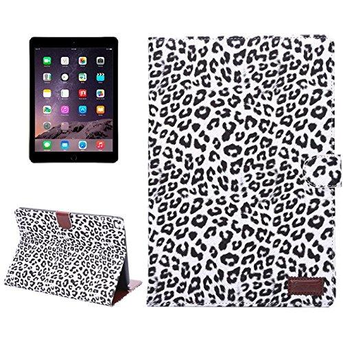 Candys house Leopardenmuster Ledertasche mit Halter & Kartenfächern & Geldbörse & Schlaffunktion für iPad Air 2` (Artikelnummer : S-ip6d-0009)