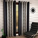 #9: Home Sizzler 2 Piece Eyelet Polyester Window Curtain Set - 5ft, Grey