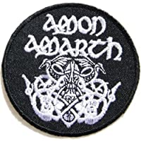 "3"" x 3""AMON AMARTH Odin Death Music Band Heavy Metal Rock PunkLogo jacket T shirt Patch Iron on Embroidered music patch on Embroidered music"