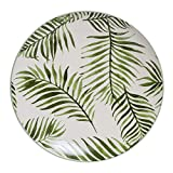 Bloomingville - Teller Jade Farn, grün/weiß, Keramik, Ø20 cm