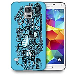 Snoogg Blue Animals Printed Protective Phone Back Case Cover For Samsung S5 / S IIIII