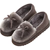 Pantofole da Donna Inverno All'aperto Caldo Peluche Morbido Impermeabile Ecopelliccia per la casa con Pantofole…
