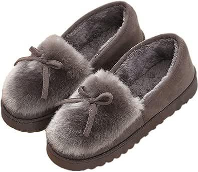 Pantofole da Donna Inverno All'aperto Caldo Peluche Morbido Impermeabile Ecopelliccia per la casa con Pantofole Mocassini