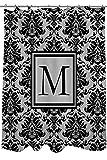 Telecharger Livres Manuel Woodworkers et Weavers Rideau de douche ornee d un Monogramme Lettre M noir et gris Damas (PDF,EPUB,MOBI) gratuits en Francaise