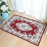 SLH Europäische Veranda Bodenmatte Tür Schlafzimmer Bodenmatte Badezimmer Küche Rote Matte (Size : XS)