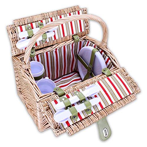 Picknickkorb XL 21teilig Modell 'OutdoorChiefII®' für 4 Personen mit Geschirr und Besteck