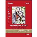 Canon Fotopapper PP-201 glänsande vit – DIN A4 20 ark för bläckstråleskrivare – PIXMA skrivare (265 g/kvm)