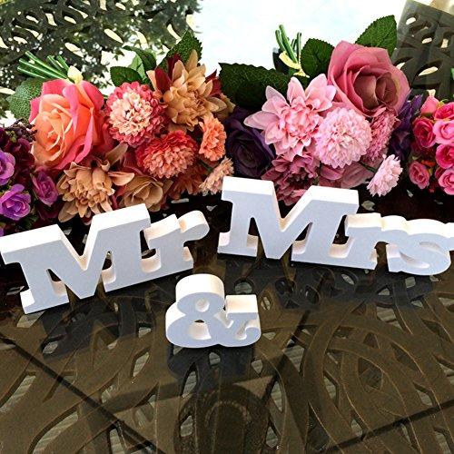GEZICHTA Mr Mrs Love Schild aus Holz, für Hochzeiten, Herzen, Tischdekoration, Mr und Mrs, Deko-Buchstaben für Hochzeiten, Foto-Requisiten, Party, Banner, Dekoration (Mr&Mrs)