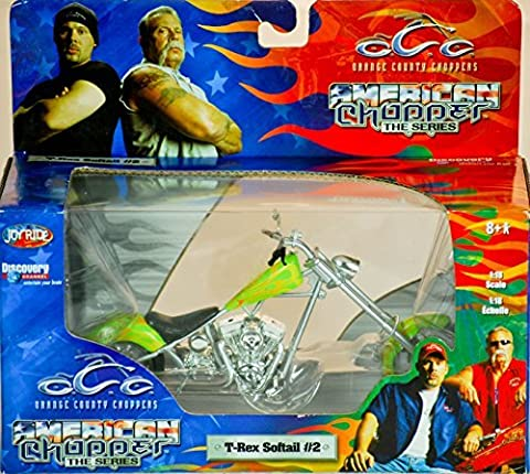 2004 - RC2 Brands / ERTL / Joy Ride - Orange County Choppers - American Chopper The Series - T-Rex Softail #2 - 1:18 Scale - Die Cast Metal - 1of 9 in Series - New - MIB - Limited Edition - Collectible by OCC