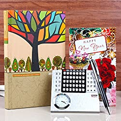 Giftacrossindia New Year Gift Collection of Calender and Diary Book