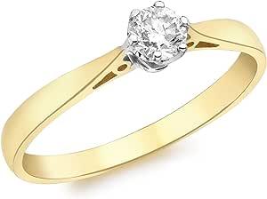 Carissima Gold Anello Donna, Oro Giallo, 9 K (375), Diamante