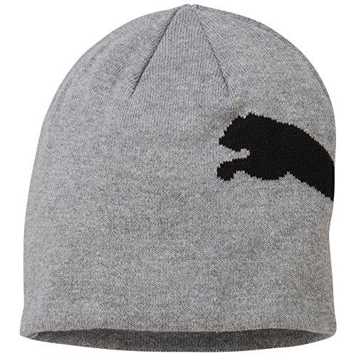 PUMA Mütze Big Cat/No.1 Logo Beanie, Medium Gray Heather-Big Cat, OSFA, 834016 43