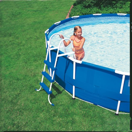 Intex Aufstellpool Easy Pool Set, TÜV/GS, blau, Ø 457 x 107 cm -