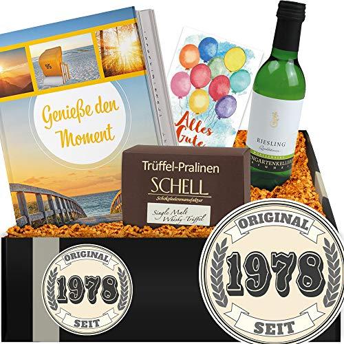 Original seit 1978 | Geschenkset mit Wein | Geschenk Freundin