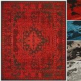 casa pura Floordirekt Vintageteppich Robuster Wohnzimmerteppich in 4 Farben für eine schicke Inneneinrichtung (Rot, 200 x 290 cm)