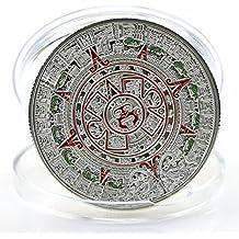 rivalty (TM) bañado en plata Maya Prophecy Azteca Calendario de oro moneda conmemorativa Collection