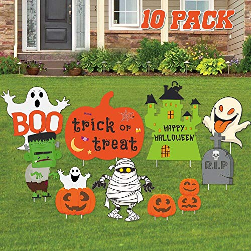Niedliche Halloween Dekoration Im Freien - JoyTplay Halloween-Dekorationen im Freien, große 10Stück