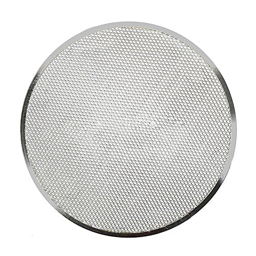 "Pizza Screen, Woopower 6""-14' Aluminium Flat Mesh Pizza Pan Oven Baking Tray Net Bakeware Cookware Kitchen Tool,Non Stick (12 inch)"