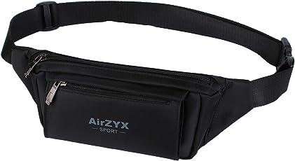 AirZyx Wasserdichte Bauchtasche Hüfttasche für Reise Sport alle Outdoor Aktivitäten, Bauchtasche Wasserdicht Hüfttaschen Herren und Damen für Running