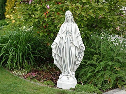 gartendekoparadies.de Massive große Stein Statue Madonna heilige Maria aus Steinguss frostfest
