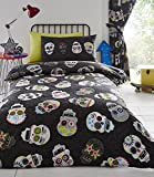 Homespace Direct Sugar Skulls Bettbezug Set – King