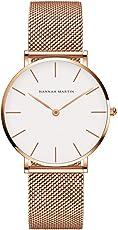 Uhren Damen Milanaise Armband, Zeitloses Design Ultraflach Damenuhr, Classic Analog Damen Armbanduhr, Elegant Quarzuhr für Frauen