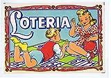 Litografía Juguete Lotería 15,5X11 Cm. Archer. Litografía Juguete Lotería 15,5X11 Cm