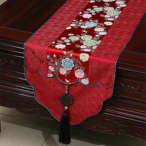ADDMAT® Pastoral Kaffee Tischtuch Tischtuch Tischläufer Tischdecke Damasttischdecken Bett Flagge , B , (Festliche Zitate Für Weihnachten)