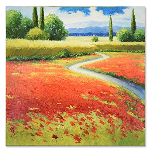 SEVEN WALL ARTS - Cuadro Pintura óleo 100% Pintado