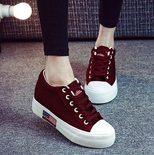 XTIAN , chaussures compensées femme Rouge