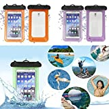 Hongch Bolsa de PVC impermeable del teléfono de alta calidad duradera bolsa subacuática IPhone Universal Waterproof Case IPX8 Waterproof Phone Pouch Dry Bag for iPhone X/8/8plus/7/7plus/6s/6/6s plus S