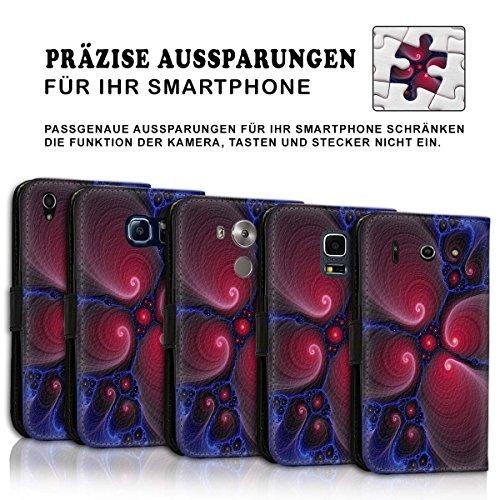 Wallet Book Style Flip Handy Tasche Case Schutz Hülle Schale Motiv Etui für Apple iPhone 5 / 5S - Variante UMV20 Design12 Design 5