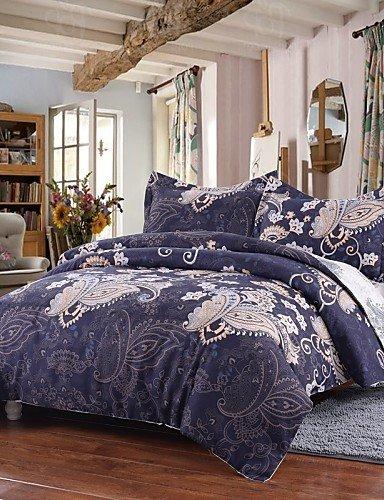 GXS/ einfache Opulenz Bettbezug gesetzt Polyester Luxus Royal gedruckt blau umfassen Bettbezug Kissenbezüge Königin König , king