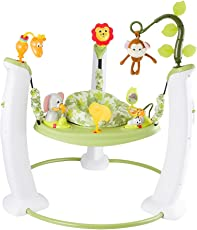 EvenFlo Exersaucer Jump and Learn Stationary Jumper Safari Friends (Multicolor)