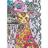 Bleistift-Zeichnung, Kuckucksuhr und Katze, 5D DIY Full Diamond Painting Stickerei Drill Mosaic Needlework Cross Craft Stitch Kit Home Decor