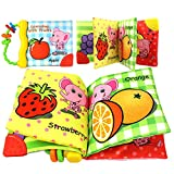 Best Start Baby Books For 1 Year Olds - niceEshop(TM) Fruit Fabric Baby Cloth Book, Infant Educational Review