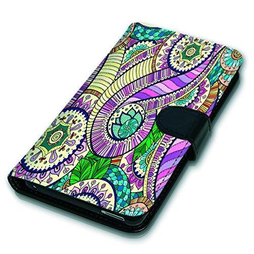 Wallet Book Style Flip Handy Tasche Case Schutz Hülle Schale Motiv Etui für Apple iPhone 6 / 6S - Variante UMV12 Design12 Design 3
