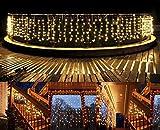 Lichterkette außen Lichterkette Balkon B-right 480 Led Lichterkette strombetrieben, Led Lichterkette warmweiß mit Fernbedienung, Innen- und Außen Lichterkette, Weihnachtsbeleuchtung für Weihnachten, Hochzeit, Party, Weihnachtsbaum
