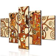 Idea Regalo - Lupia Vogue quadro su legno 5 pezzi L'Albero DellaVita 66x115 cm