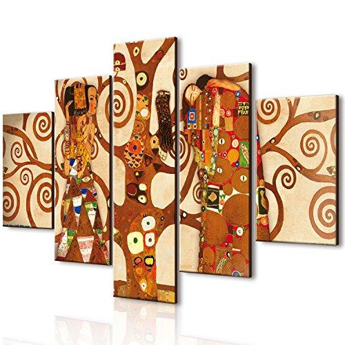 Lupia vogue quadro su legno 5 pezzi l'albero dellavita 66x115 cm