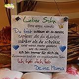 Shabby Style Holzschild - Lieber Sohn - Deine Mama ~ Weihnachten - Geschenk