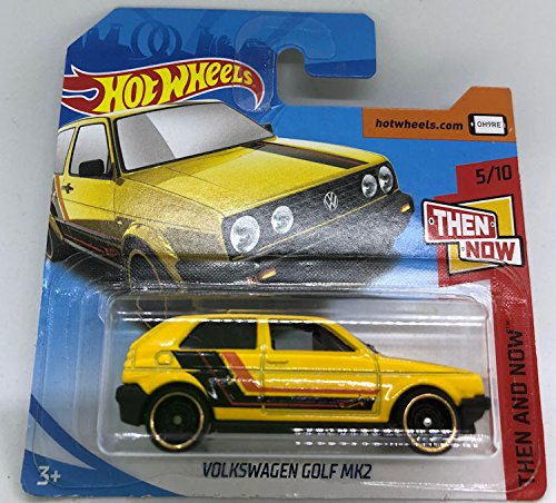 Hot Wheels 2018 Then and Now 5/10 Volkswagen Golf MK2 Yellow 171/365 (Short Card)