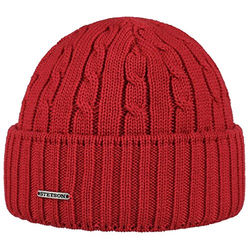 Georgia Wool Berretto a Maglia Stetson beanie lavorato a maglia beanie invernale Taglia unica - rosso