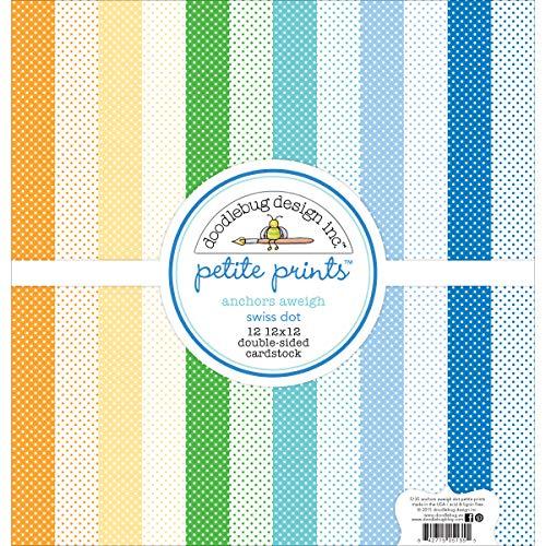 Petite Dot Print (Doodlebug Petite Prints tonkartons Pack 12Zoll x 12Zoll 1-Anchors Los Swiss Dot)
